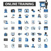 Постер, плакат: online training icons online training logo online training vector online training flat illustrati