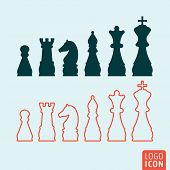 Постер, плакат: Chess Icon Isolated