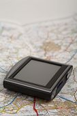 Gps Device On A Map