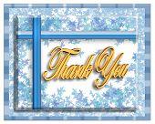 Blue Thank You Card