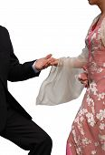 Newly Wed Couple Isolated On White