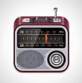 image of musical scale  - Vector radio XXL icon - JPG