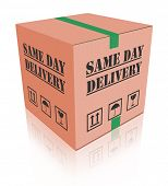 package delivery same day shipment urgent and quick cardboard box