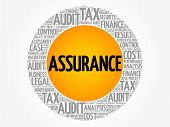 Assurance Word Cloud Collage Business Concept Background poster