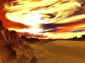 Alien Desert Planet