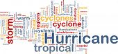 Background concept wordcloud illustration of hurrican cyclone weather
