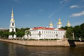 The View From The River On Griboedov Nicholas Naval Cathedral. St. Petersburg