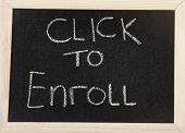 Board With 'click To Enroll'