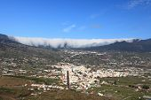 La Palma, Canary Islands. Photo shows the rare and famous cloud phenomena where clouds are falling d