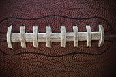 American Football Laces Close up Macro photo