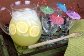 Lemonade with pitcher and glasses