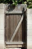 Rustic Wood Gate with Z pattern