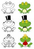 Cute Frogs Cartoon Characters