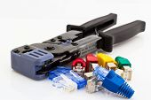 Cat5 Cable Jacks And Crimping Tool