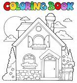 Kleuren boek huis thema afbeelding 1 - vectorillustratie.
