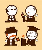 stock photo of polly  - Set of politics and law profession funny peoples icons - JPG