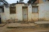 NOVO CRUZEIRO, BRAZIL - JULY 27: An exterior of a simple home is shown July 27, 2005 in Novo Cruzeir