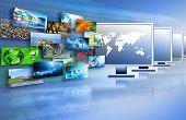 Fernsehen und Internet Produktion Technologie-Konzept