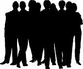 stock photo of person silhouette  - people crowd vector on a white background - JPG