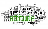 Attitude concept in word tag cloud on white background