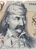 GREECE - CIRCA 1984: Theodoros Kolokotronis (1770-1843) on 5000 Drachmes 1984 Banknote from Greece.