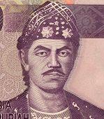 INDONESIA - CIRCA 2010: Sultan Mahmud Badaruddin II on 10000 Rupiah 2010 banknote from Indonesia. The last Sultan of Palembang.
