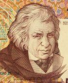 PORTUGAL - CIRCA 1992: Jose Javier Mouzinho da Silveira on 500 Escudos 1992 banknote from Portugal.