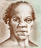 JAMAICA - CIRCA 2009: Samuel Sharpe (1801-1832) on 50 Dollars 2009 Banknote from Jamaica. Slave lead
