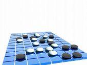 Blue Go Game Board