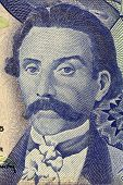PORTUGAL - CIRCA 1965: Camilo Castelo Branco (1825-1890) on 100 Escudos 1965 Banknote from Portugal. Prolific Portuguese writer.