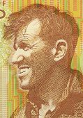 NEW ZEALAND - CIRCA 1999: Edmund Hillary (1919-2008) on 5 Dollars 1999 Banknote from New Zealand. Ne