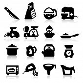 Kitchen utensil icons set -?? Elegant series