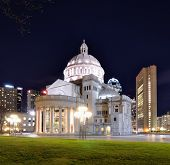 The First Church of Christ, Scientist in Back Bay of Boston, Massachusetts is headquarters of the Christian Science Church.