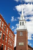 stock photo of paul revere  - Old North Church in Boston - JPG