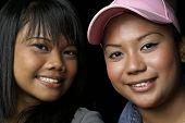Two Smiling Malay Ladies