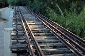 Old Railway Track Railway Bridge In The North Of Israel poster