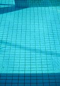 Pattern Of Sunlight On The Bottom Of A Pool. Poolside Pool Swimming Pool Summer Holiday Vacation Sce poster