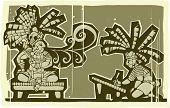 Woodblock Maya B