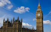 pic of big-ben  - View of the Houses of Parliament and the Big Ben - JPG