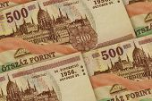 Hungary Currency Background. Huf Pattern. Hungary Forints Banknotes poster