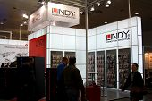 Hannover - March 10: Stand Of Lindy On March 10, 2012 At Cebit Computer Expo, Hannover, Germany. Ceb