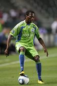 CARSON, CA. - AUG 14: Seattle Sounders M (23) SANNA NYASSI during the Chivas USA vs Seattle Sounders
