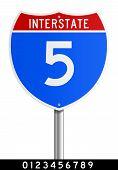 Signo de Interstate editable