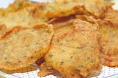 picture of torta  - closeup of a pile of spanish tortas de camaron - JPG
