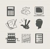 dispositivos para cálculo definido icon ilustração do vetor