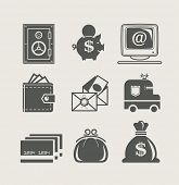 banking and finance set icon vector illustration