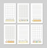 Collection Of Cute Notes For Cards, Stickers, Tags With People. Template For Wrapping, Notebooks, Di poster