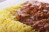 Chicken Jalfrezi With Pilau Rice