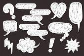 Comic Text Speech Bubble Pop Art Style. Set Of White Cloud Talk Speech Bubble. Isolated White Speech poster