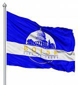stock photo of boise  - United States of America Boise city flag fluttering in the wind - JPG
